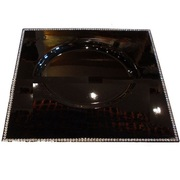 Diamond Beaded Black Charger Tray